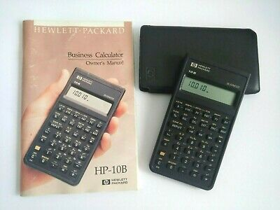Hewlett-Packard HP-10B Business Calculator Owners Manual Case Tested Working