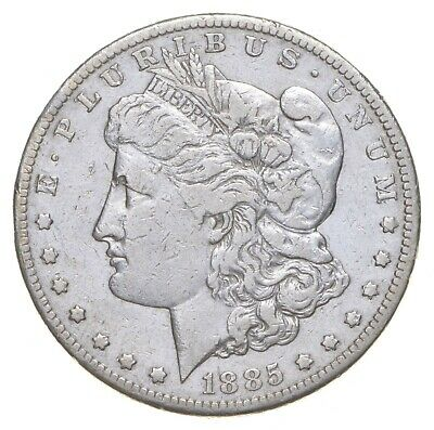 W@W Early 1885-S Morgan Silver Dollar - 90% US Coin - Nice Coin *788