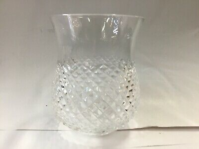 Original Art Deco Shade Glass Victorian Lamp Light Crystal Flute Candle Holder