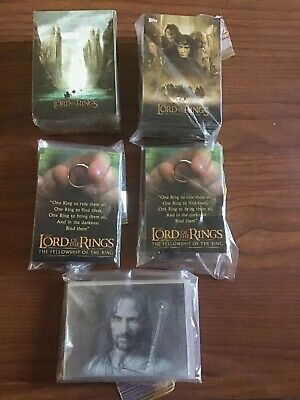 Lotr Trading Cards bulk lot massive collection all 3 movies