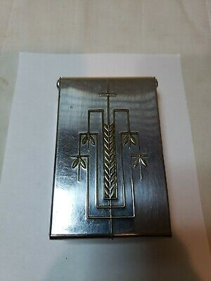 VINTAGE CHASE CIGARETTE BOX METAL Art Deco Steampunk mid cosplay