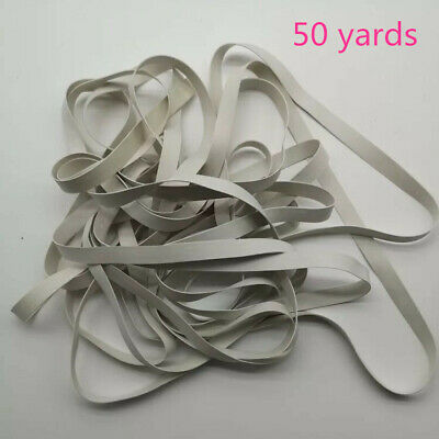 50 Yards 5mm white rubber swimwear swim suit sewing LIGHT weight elastic 0.3mm