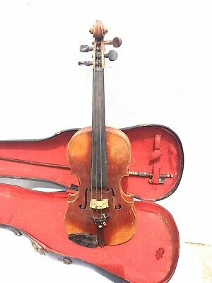 Antique 19th Century Academie Leipzig German Violin w/ Case & Bow