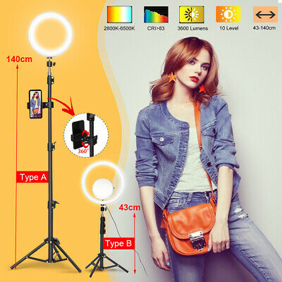 12.6'' LED Ring Light Dimmable & Mirror bluetooth for Makeup Youtube Live  ■▲