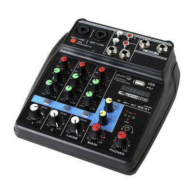 Professional 4 Channel Mixing ,Studio Audio Sound Mixer Console BT With USB S7H7