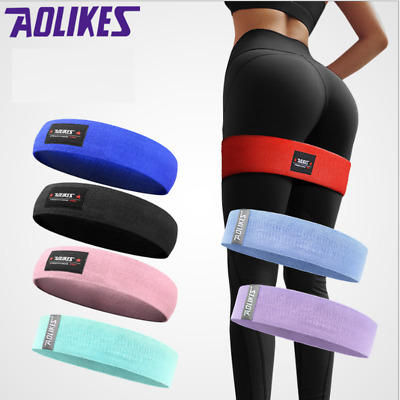 AOLIKES Resistance Bands Booty Fabric Glutes Hip Circle Legs Squat Yoga Non Slip
