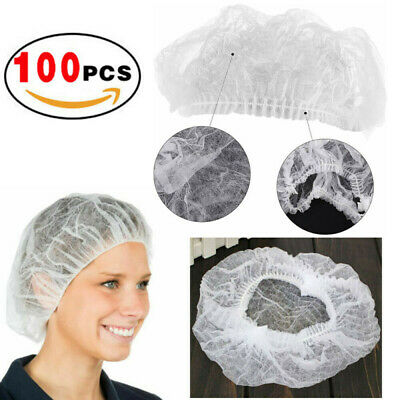 Breathable Hair Net Non Woven Elastic White Food service Hospital Laboratory