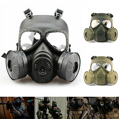 Double Filter Full Face Breathable Perspiration Anti-dust Face Guard Cartridges