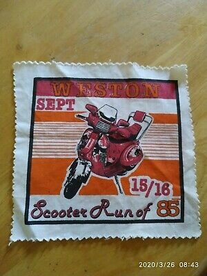 1985  RUN TO WESTON SUPER MARE SCOOTER RALLY RUN PATCH not PADDY SMITH