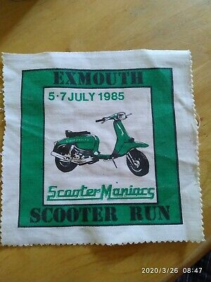 1985  RUN TO EXMOUTH SCOOTER RALLY RUN PATCH not PADDY SMITH