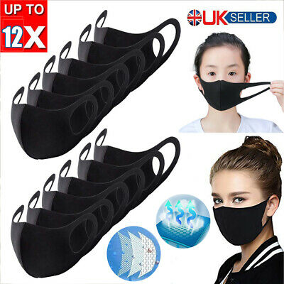 12X Adult Kids Anti-dust Pollution Face Mouth Masrk Protective Washable Cover