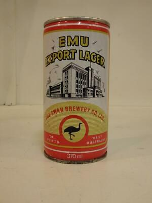 Emu export lager ring pull top steel beer can 370 ml ,13 Imp fluid ounces
