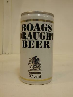 Boags draught beer ring pull top aluminium beer can 375 ml