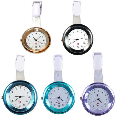 Stainless Steel Nurse Watch Clip Brooch Tunic Fob Watches Quartz Pocket Pendant