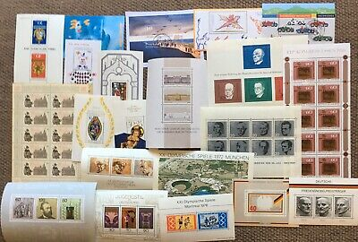 Germany (Bund) Selection of Souvenir Sheets 1964-1998 MNH/MLH & CTO