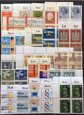 Germany (Bund) 1950s-1980s Blocks of 2-4 Lot 2 MNH/MLH & CTO