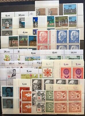 Germany (Bund) 1950s-1980s Blocks of 4 Lot 3 MNH/MLH & CTO