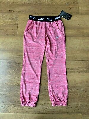 NIKE DRI FIT TROUSERS Pink Girls 6-7 Years - NEW
