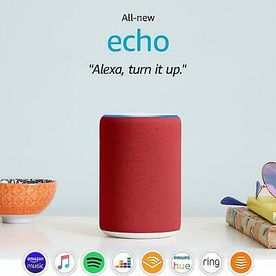 All New 2019 Amazon Echo (3rd Gen) | Smart Speaker with Alexa, RED EDITION