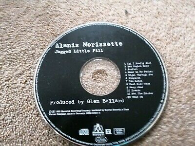 ALANIS MORISSETTE Jagged Little Pill CD 1995 Disc only NO CASE OR INLAY