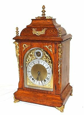 * Antique Oak & Ormolu TING TANG Bracket Mantel Clock : Winterhalder W & H (a27)