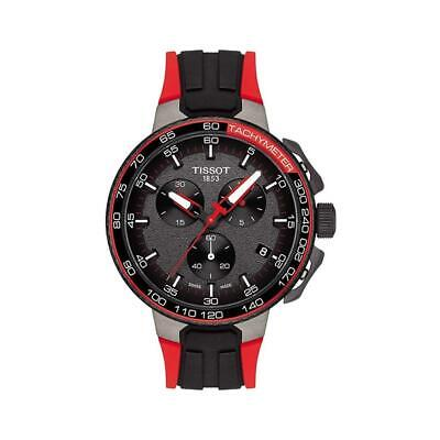 NEW Tissot Mens T-Race Cycling Water Resistant Silicone Band Watch
