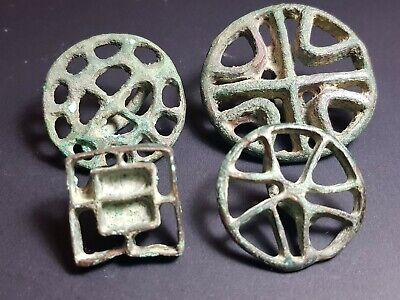 Ancient bactrian wonderfull bronze seal.4 seal lot