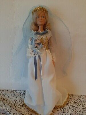 "Vtg 1978 Mego BIG 18"" Lace WEDDING DOLL Blonde Complete Outfit !! BEAUTIFUL !!"