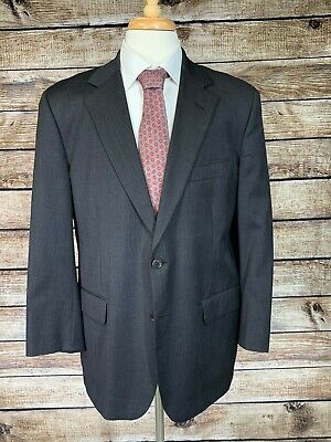 Brooks Brothers Solid Gray Suit Jacket 42S Wool Sport Coat