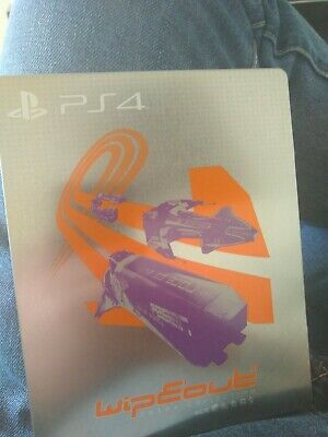 STEELBOOK ONLY WipEout Omega Collection PS4 RARE IN EXCELLENT CONDITION see pics