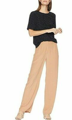 NEW Eileen Fisher Amber Tencel Viscose Crepe Relaxed Fit Trousers Pants Size 14