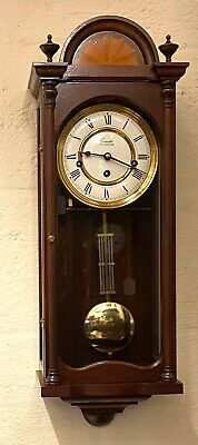 Antique Style COMITTI LONDON Mahogany Wall Clock WESTMINSTER CHIMES