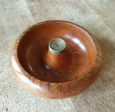 Vintage Turned Wooden Australian Pelican NutCracker Bowl