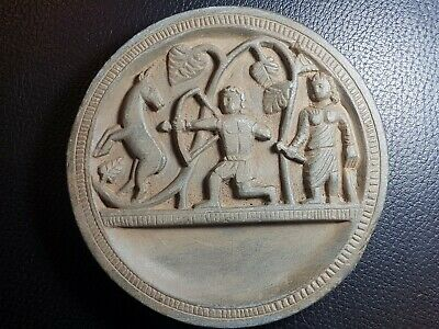 Ancient greco bactrian rare cosmetic gandharan schist stone plate
