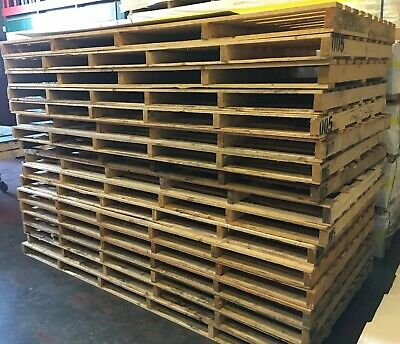 Large Wooden Pallets Mainly Clean - Fencing, Firewood 8ft x 4ft x 5 Pallets