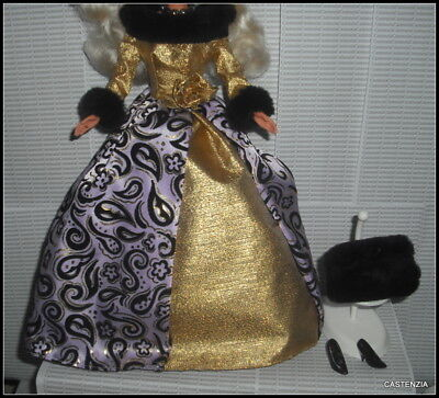 Outfit  Barbie Doll Evening Majesty Evening Gown  Dress Muff Shoes Accessory