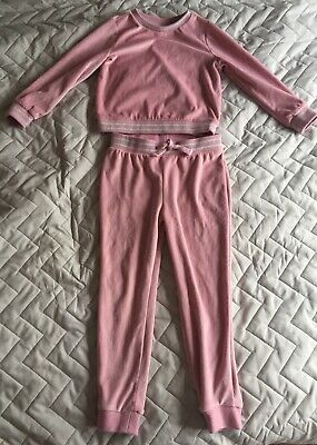 Girls Velour Outfit/ Tracksuit Age 6