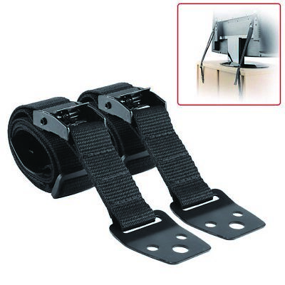 2 Pcs TV & Furniture Anti Tip Metal Straps Kit Baby Safety Child Proofing Anchor