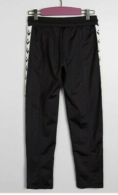 Converse Girls Black Chevron Star Tracksuit Bottoms Pants Uk 13yrs #Box 27