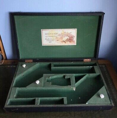 Antique 19th/Early 20th Century Duelling Pistol Box Mekin & Son