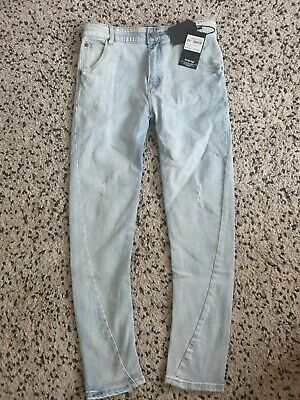Firetrap Light Wash Blue Tapered Slouch Jeans Uk 13yrs L26 #Box 23