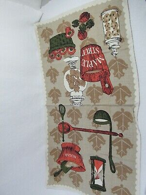 Vintage Lois Long Tea Towel - Maple Syrup - Really Cute Design