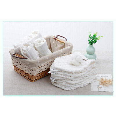 10PCS Baby Cotton Cloth Diapers Reusable Inserts Liners 12 Layers Newborn Nappy