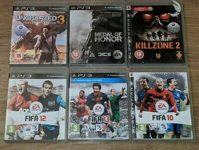6 Games Lot Uncharted 3/Medal Of Honor/Killzone/Fifa For Ps3 In Working Order