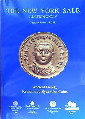 THE NEW YORK SALE AUCTION XXXIV 34 Ancient Greek Roman Byzantine Coins Catalog