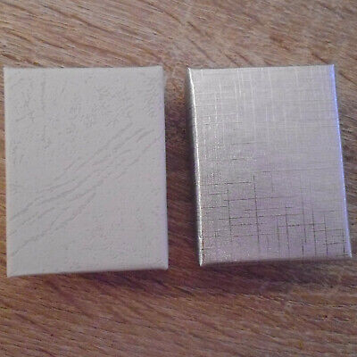 Small Silver Or White Presentation Boxes, For Earrings, Brooches Or Bracelets