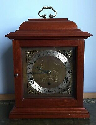 Elliott Mahogany Bracket Mantle Clock Westminster & Whittington Chimes And Box
