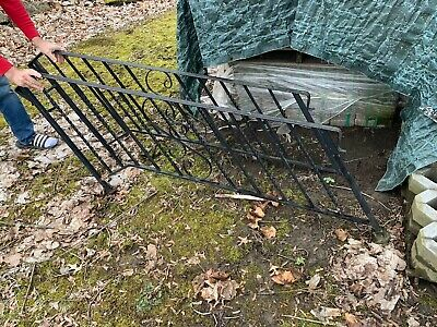 Vintage wrought iron stair railing - Set of 2