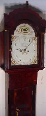 "Antique Mahogany   "" Newark ""  30 Hour  Longcase / Grandfather  Clock"