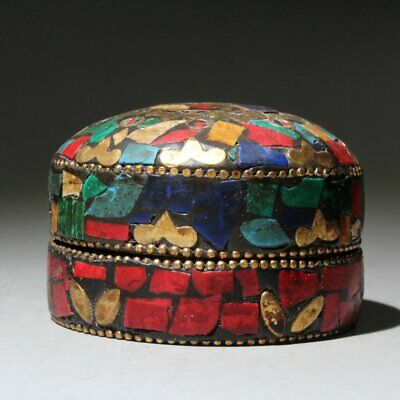 Collectable China Old Beautiful Cloisonne Hand-Carved Delicate Noble Storage Box